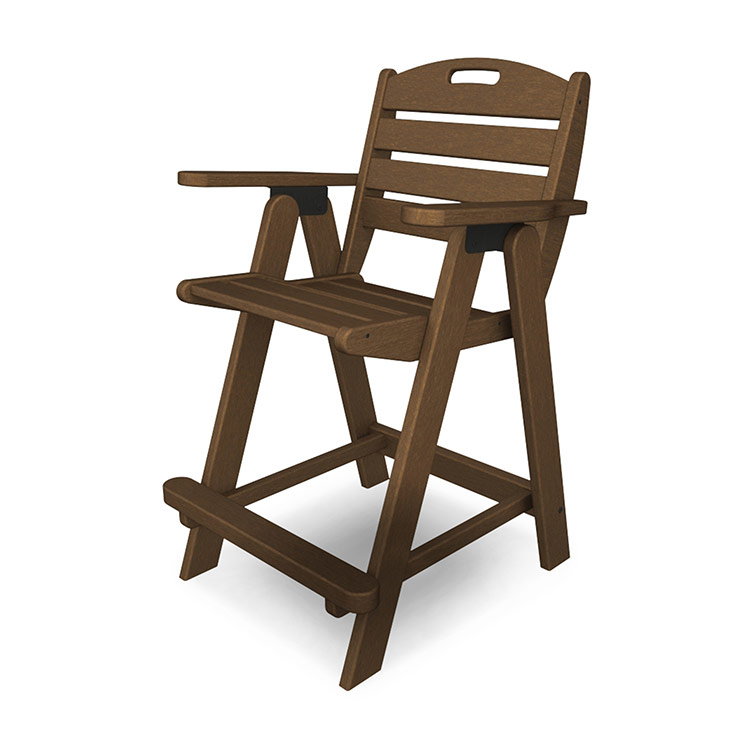high outdoor folding chairs chair tray cover counter height polywood nautical collection maintenance free resin