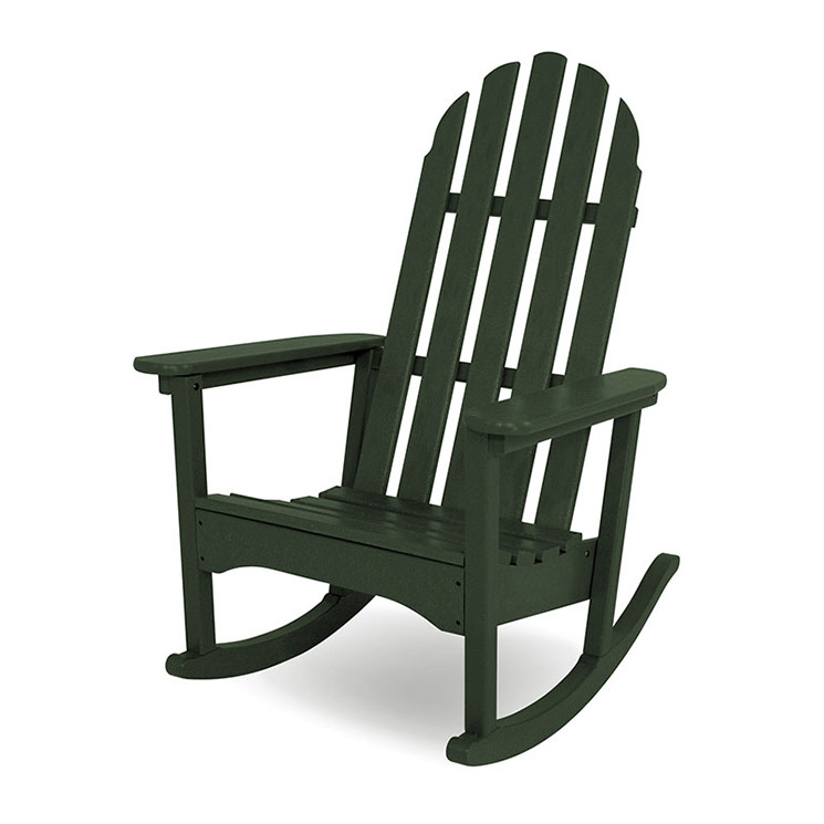 outdoor rocking chairs white chinese chippendale dining adirondack chair polywood recycled plastic rockers american made