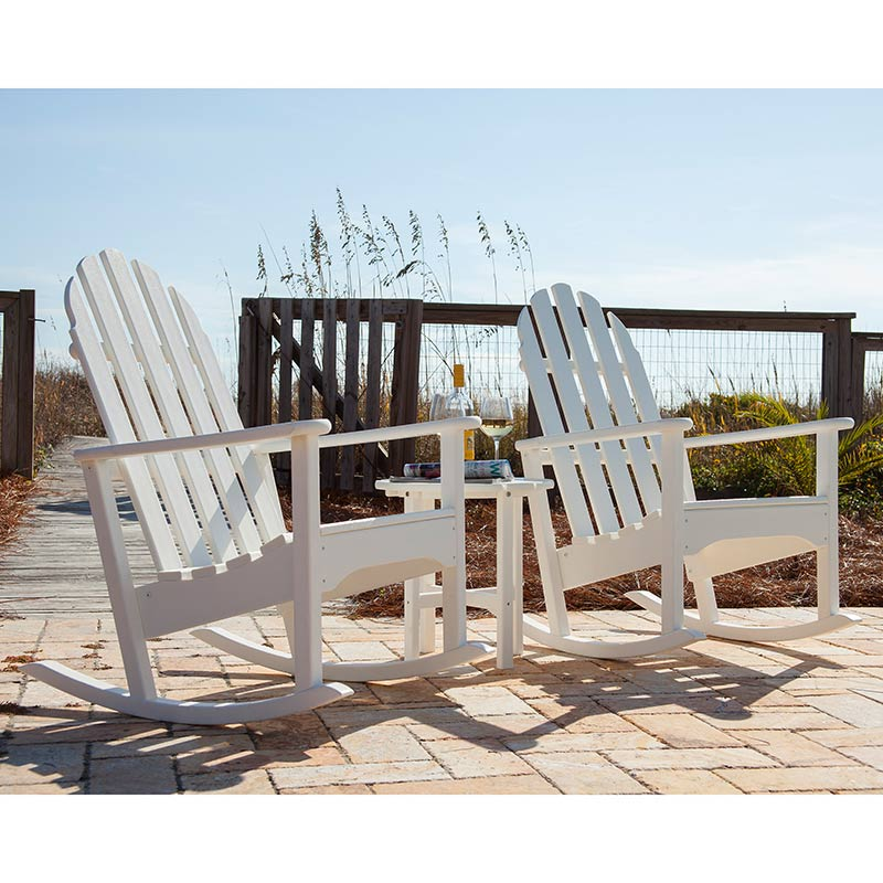 yellow adirondack chairs plastic grey and white dining rocking chair   polywood recycled outdoor rockers american made