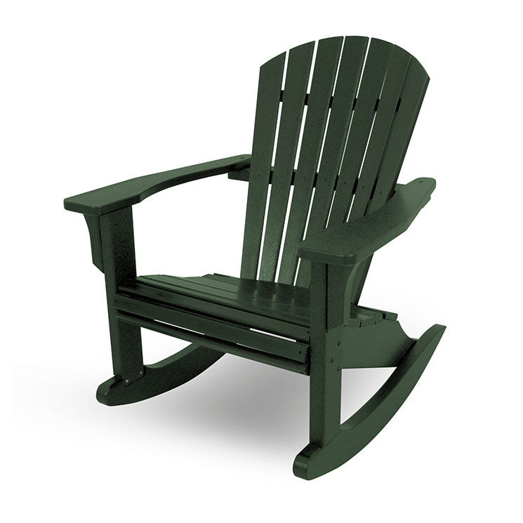 Seashell Adirondack Rocking Chair  Polywood  Recycled