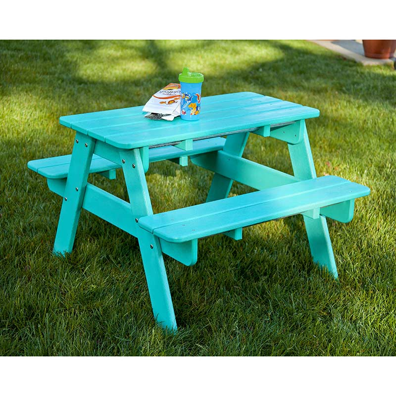 Polywood Childrens  Kids Picnic Table  All Weather Solid