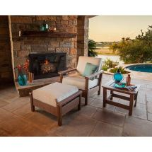Polywood Harbour 3-piece Outdoor Furniture Set Weather