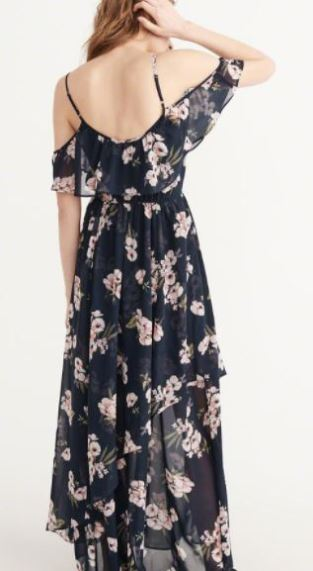 Abercrombie maxi cold shoulder dress