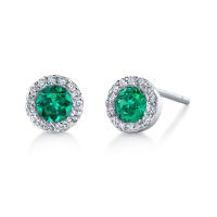 Emerald Diamond Earring Emerald Diamond Drop Earrings 18k ...