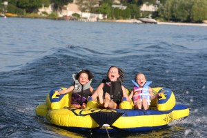 Tube rentals are included in our boat rentals