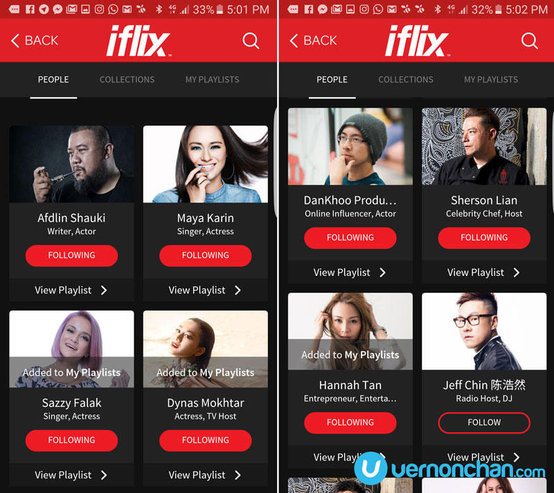 iflix Playlists
