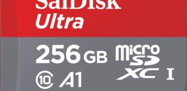 SanDisk 256GB microSDXC UHS-1 card