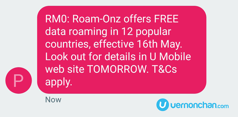 U Mobile Roam-Onz