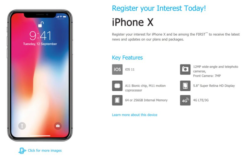 Apple iPhone X Celcom