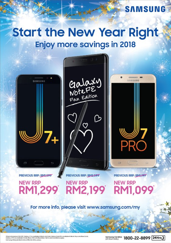 Samsung 2018 New Year Promo