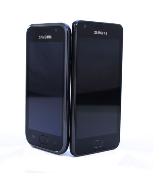 Galaxy S I and II comparison front