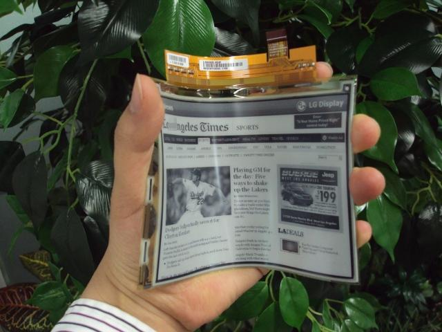 LG's Electronic Paper Display (EPD) technology. Image credit: Ubergizmo