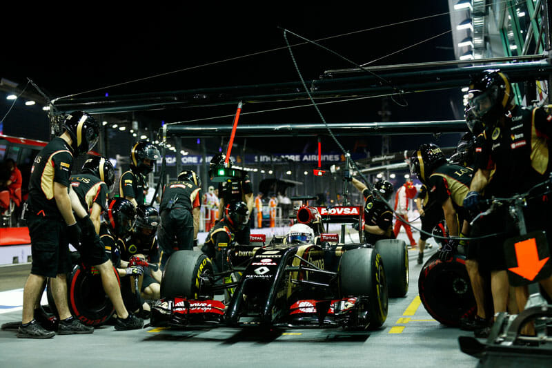 Lotus F1 Team with Romain Grosjean