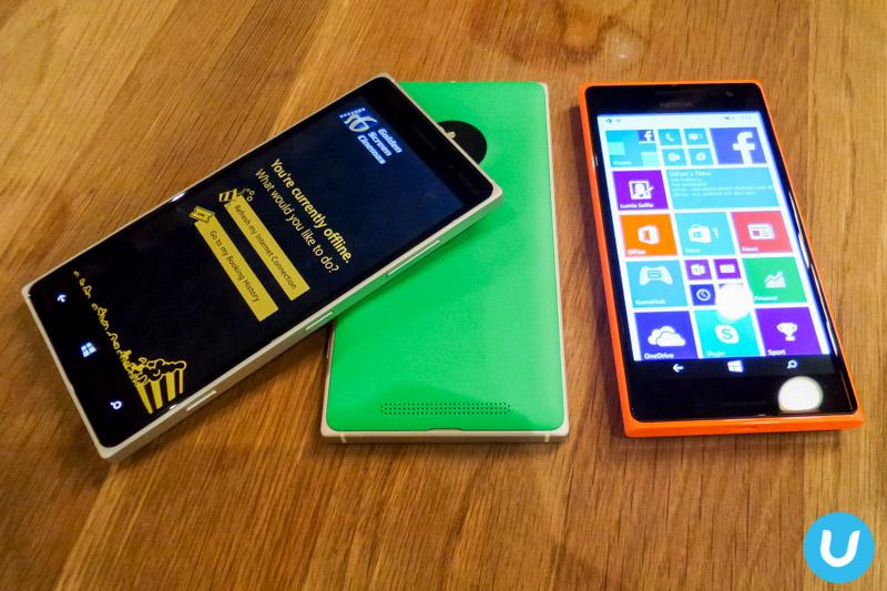 Lumia 830 and Lumia 735 with GSC app