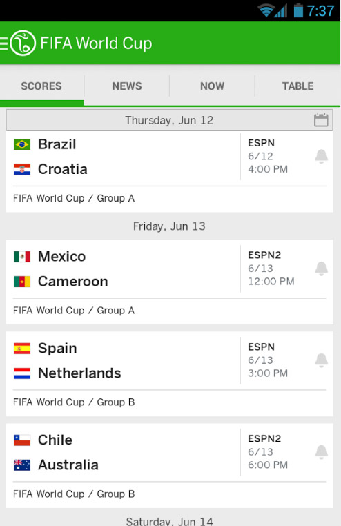 ESPN World Cup app