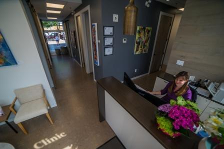 Reception area at Kelowna Denture Clinic