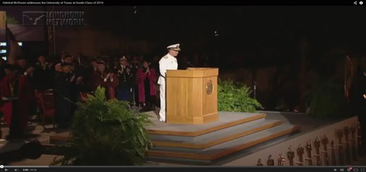 Adm McRaven addresses the University of Texas Class of 2014