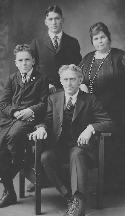 Arthur, Ethel, Maynard and Ellwyn Miller