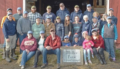 The whole Miller farm family