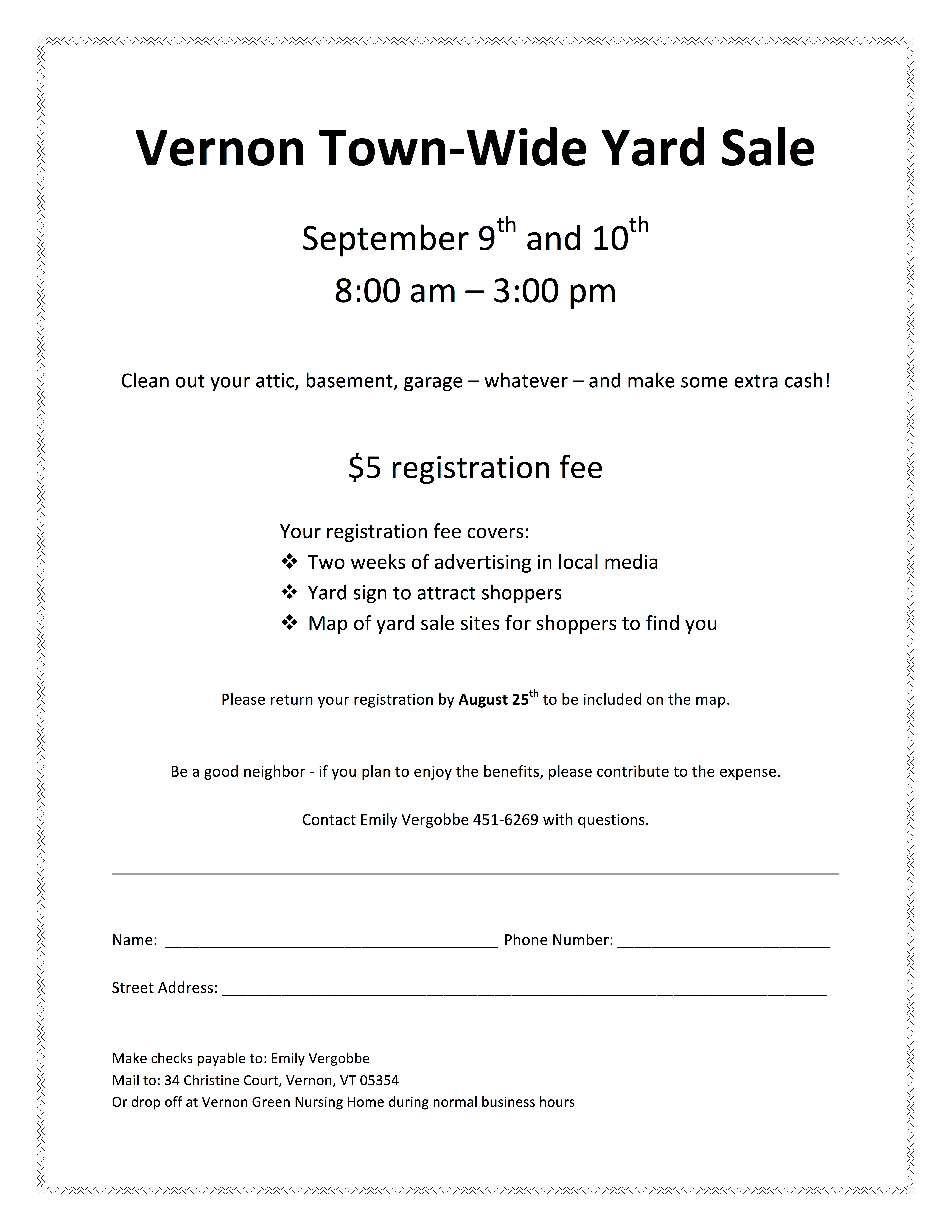 Sign up now for the Vernon Town-Wide Tag Sale — Sept. 9-10, 2017 ...