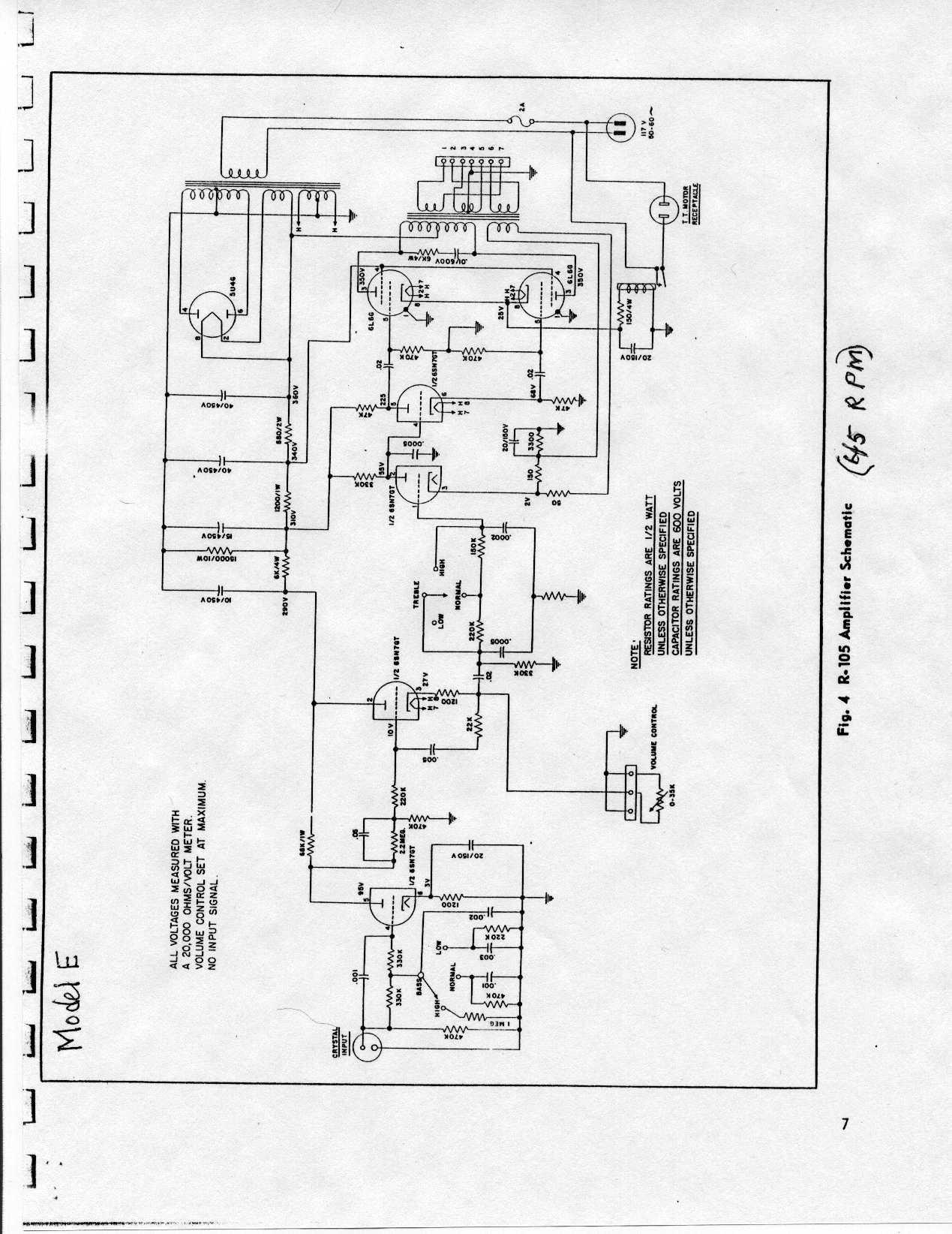 AMI Model DD Amplifier Wiring