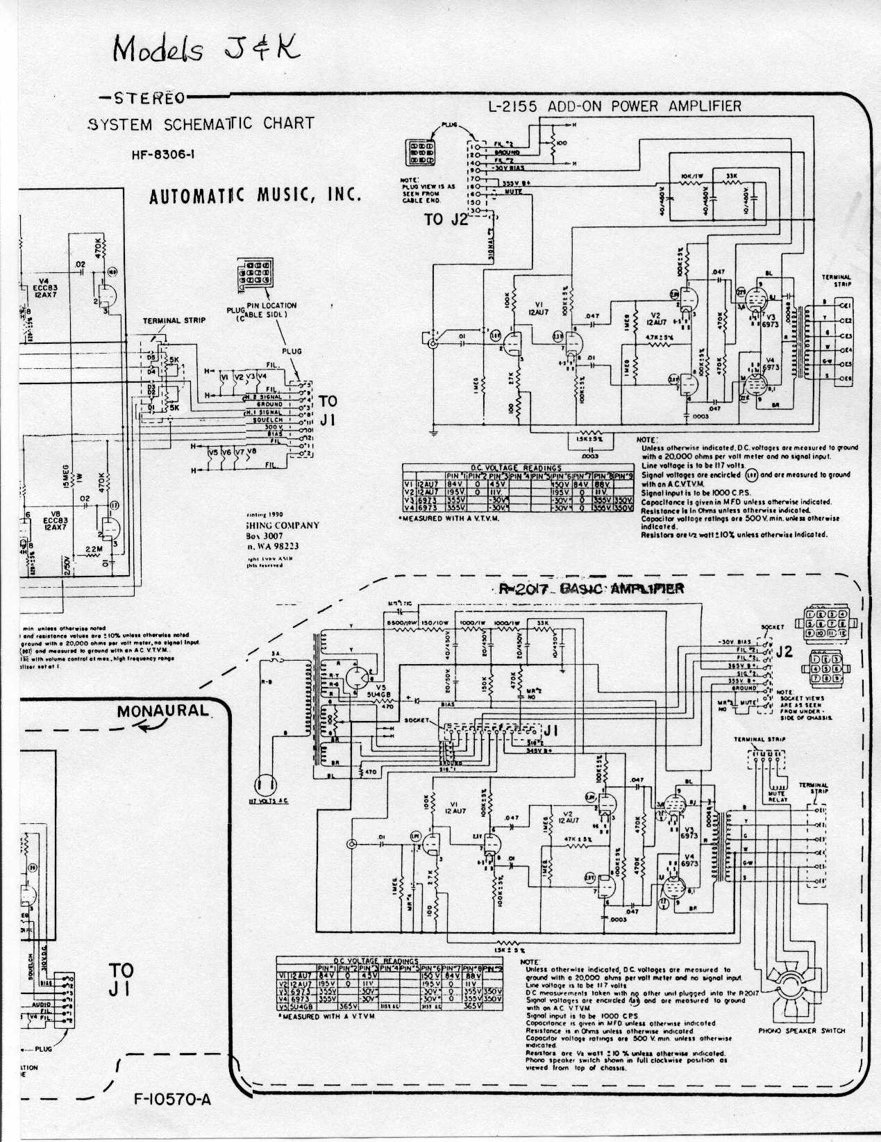 [Jukebox-list] AMI Model K Amplifier Connections