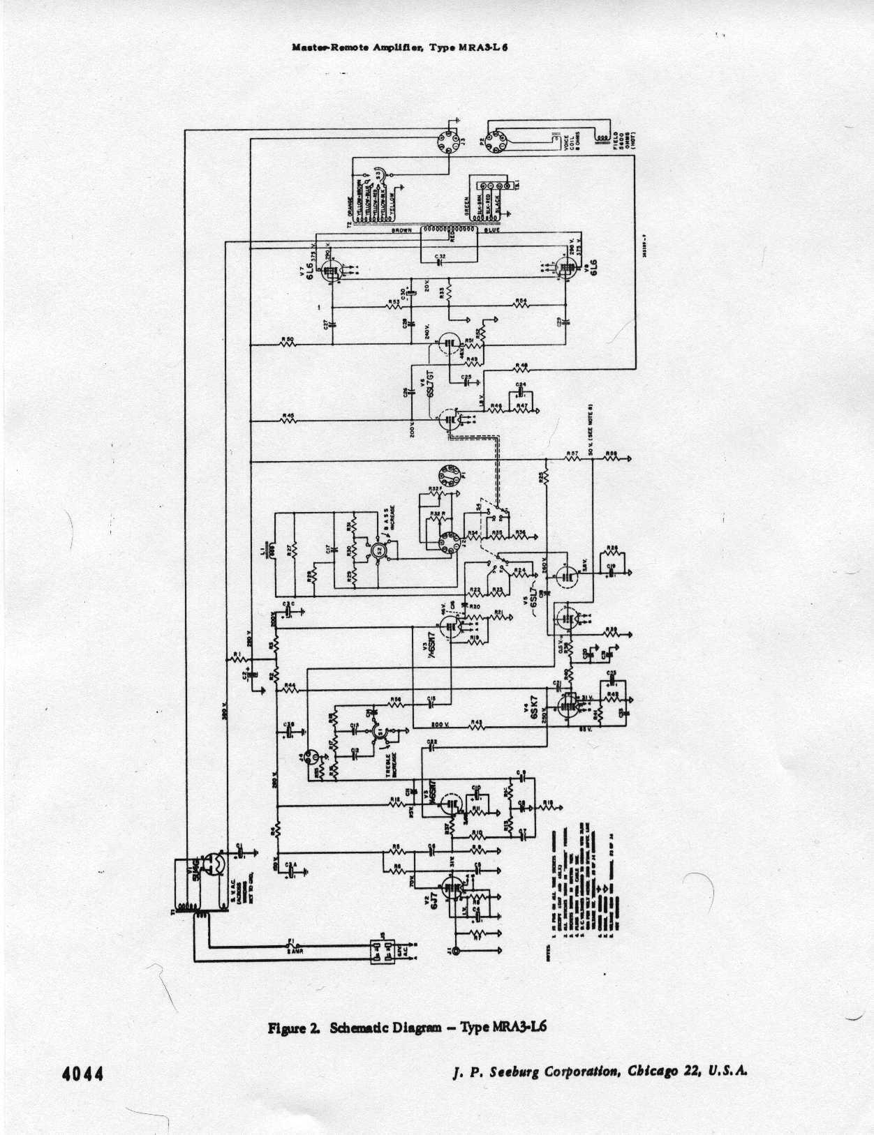 Seeburg 100b Amp Modifications
