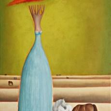 "Amapola 33x22"" Acrylic - Oil on canvas, 2013  SOLD"