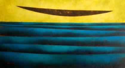 "Homage to Sergio Agostini 36x66"" Acrylic on canvas, 2010"