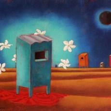 """La Notte Dei Sogni Dominicani 3 20x16"""" Acrylic on canvas, 2009  SOLD"""