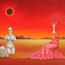 """Yo y mi Conciencia 14x20"""" Oil on canvas 2011"""