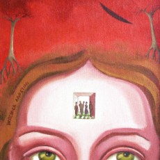 """When people enter your mind 10x8"""" Acrylic on canvas, 2007  SOLD"""