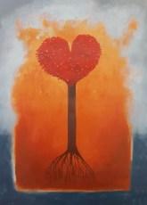 "The Love Tree 28x20"" Acrylic on wood, 2005  SOLD"