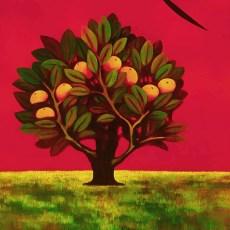 "Allegro Verde 30x24"" Acrylic on canvas, 1999  SOLD"