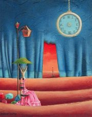 """Waiting 11x14"""" Oil on canvas, 2010  SOLD"""