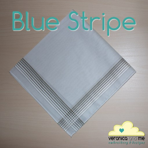 Blue Striped Handkerchief