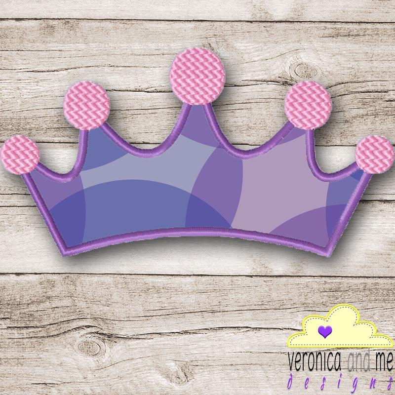 Machine Applique Princess Crown Applique Design Crown Applique Design PES Files Prince Crown Applique Design Machine Embroidery Design