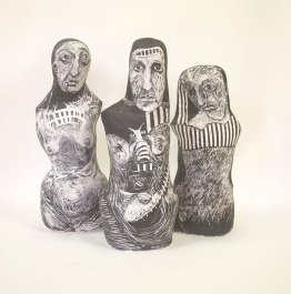 tribe 60 cm each sgraffito vessels