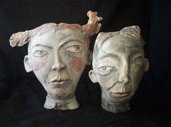 this is no picture - ceramic sculpture underglaze terrasigillato 40 cm (wall hanging or table sculpture)