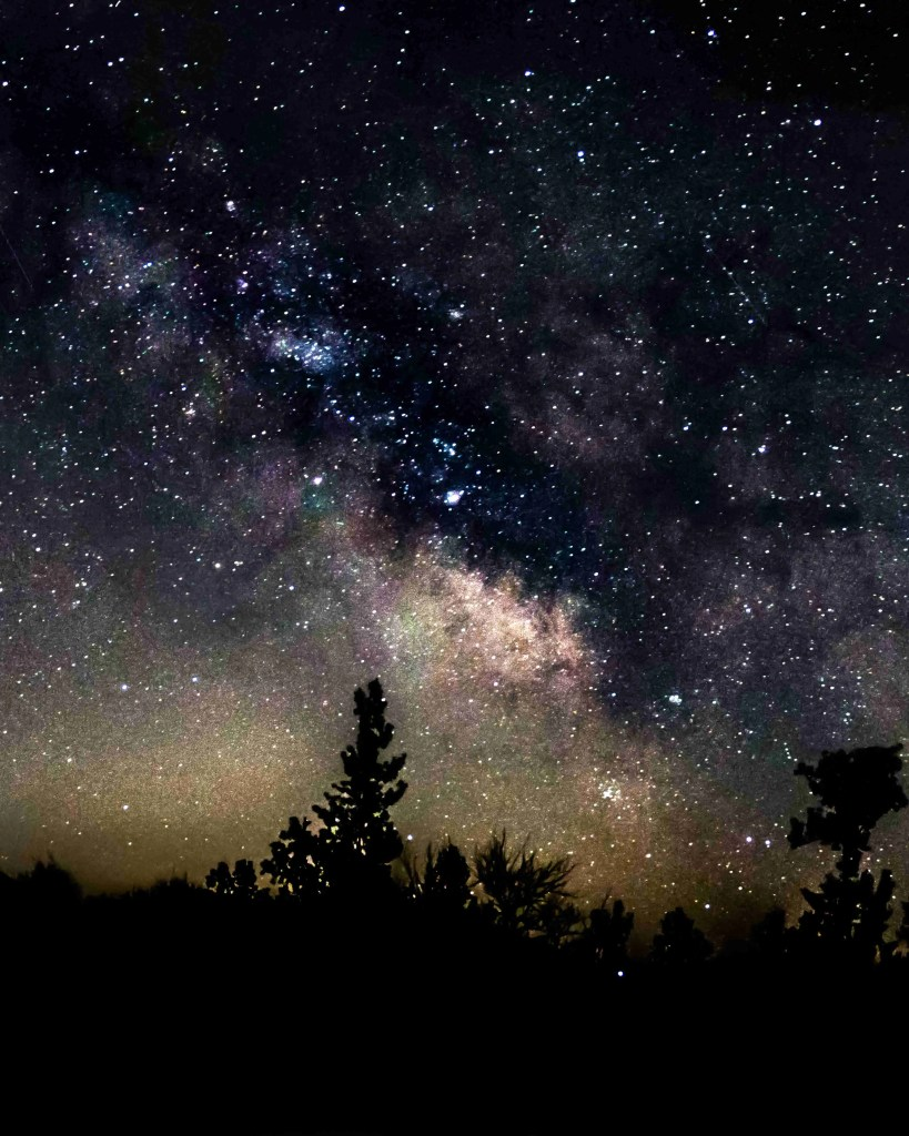 Milky Way Picture with a lone tree in the foreground