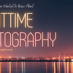 Ad for Night Time Photography with night skyline in background