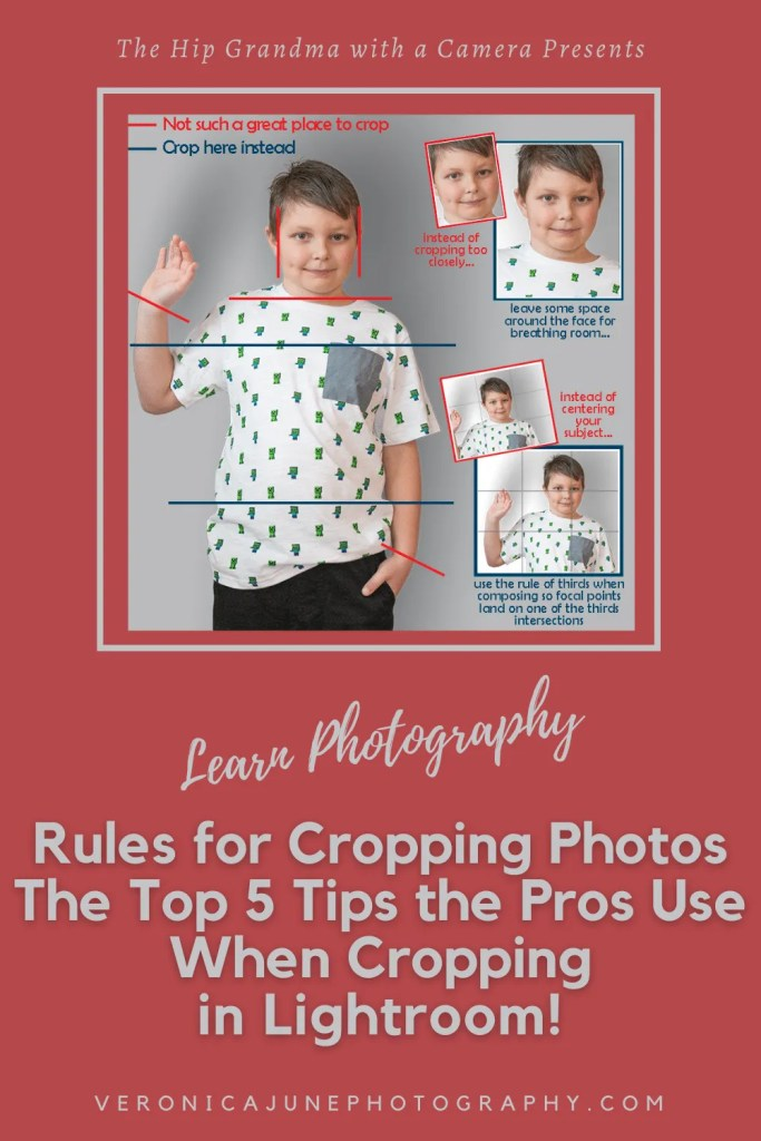 PIN image for rules for cropping photos - the top 5 tips the pros use when cropping in lightroom