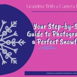 Ad image with snowflake and photographer and title for Perfect snowflake post