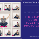 AD image with woman repeated in a box for How To Put Together a Box Photo Composite