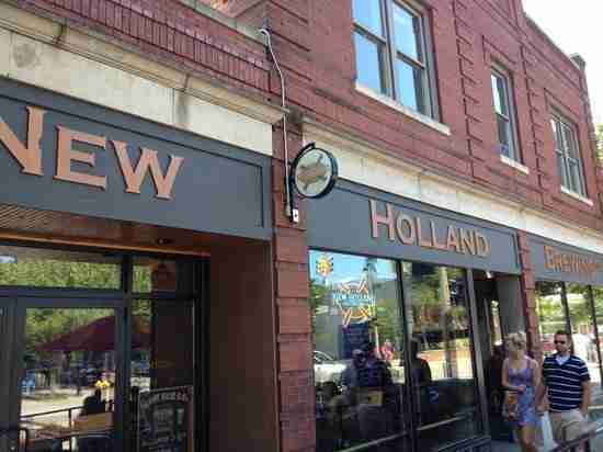Outside view of New Holland Brewery - fourth best place to eat in Holland MI
