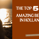 AD image for 5 Holland beaches with foot and sunset background