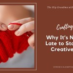 Ad image for Creative Hobbies showing hands knitting with yarn