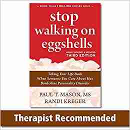 Cover of the BPD book entitled Stop Walking on Eggshells