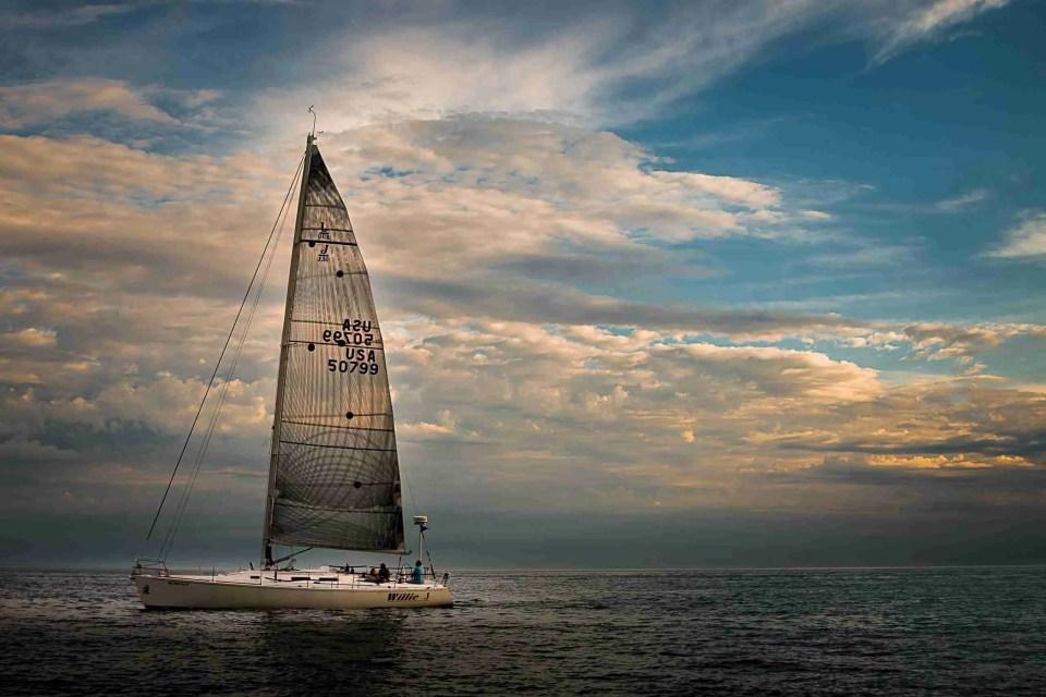 a sailboat on Lake Michigan