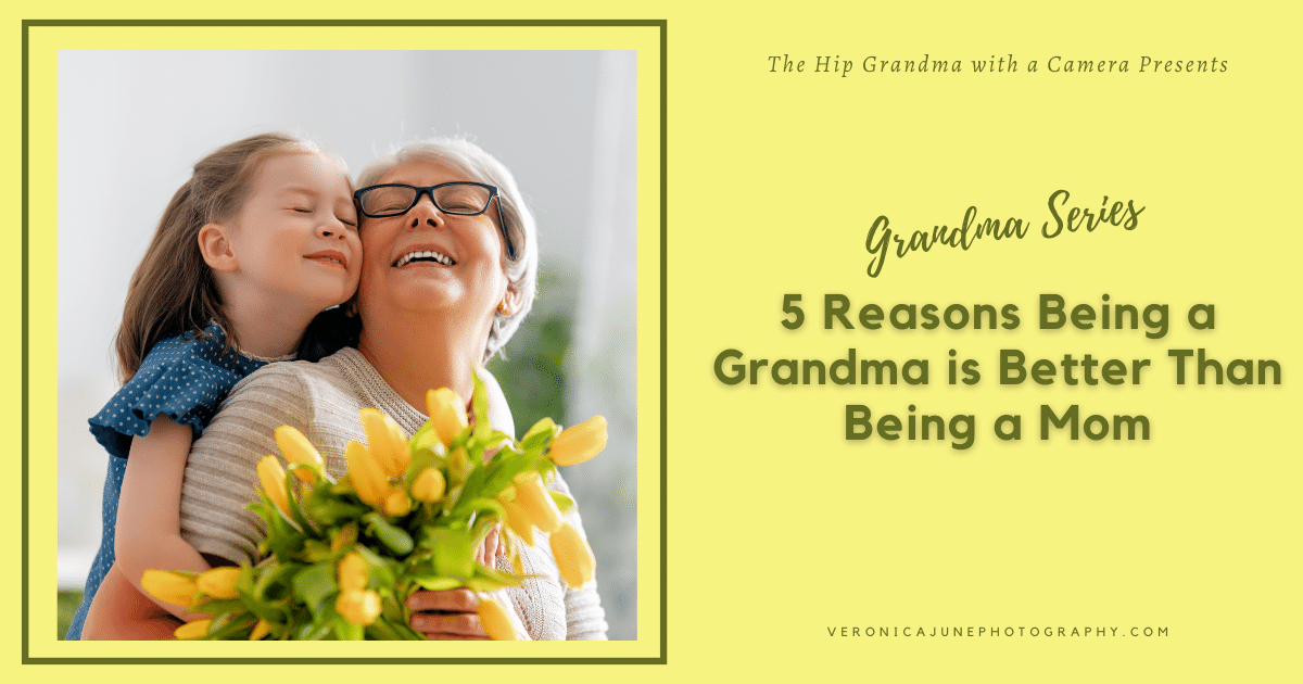 AD image for being a grandma showing a grandmother and child and post title